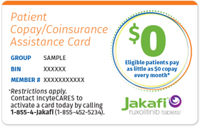 Image of Patient Copay/Coinsurance Assistance Card